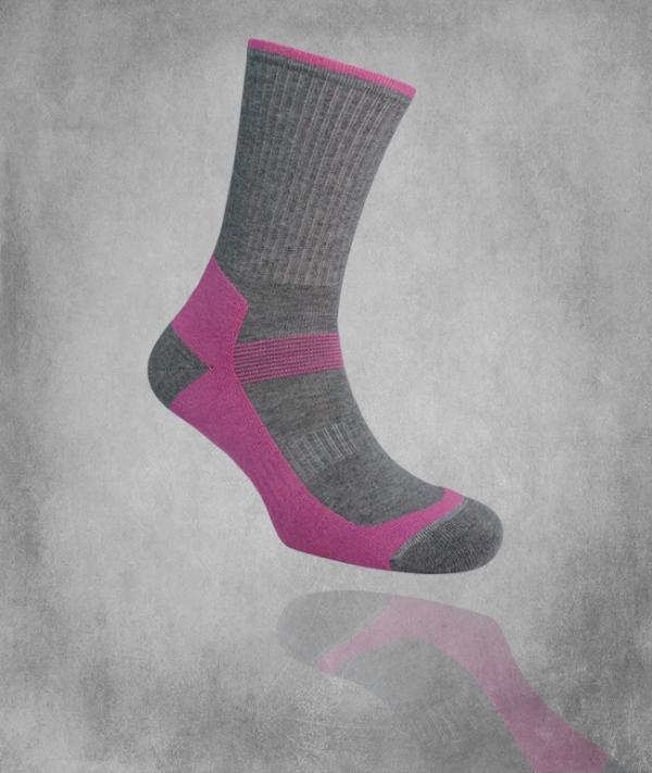 Tekninen sukka 480 / violetti / harmaa